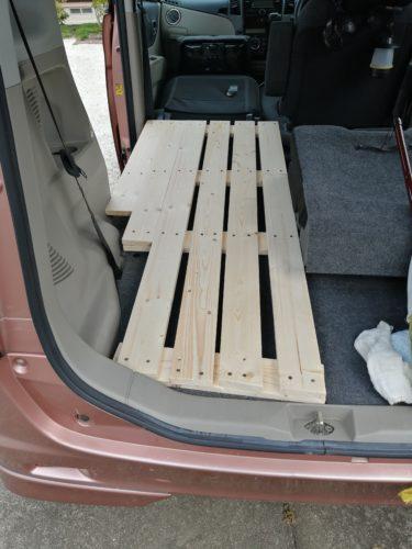 車中泊(仮眠用)に車にすのこベットを自作