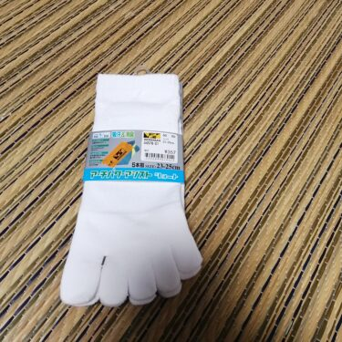 女性用の5本指靴下(白)はワークマンのアーチパワーアシストが良かったよ。